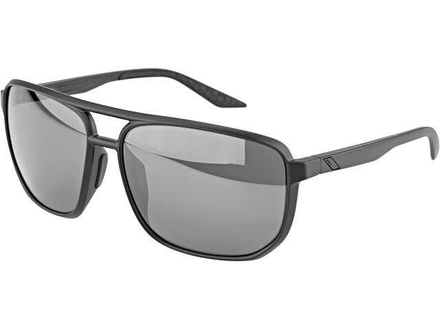 100% Konnor Aviator Square Bril, matte black/black mirror